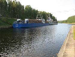 Ships along the Saimaa Canal.